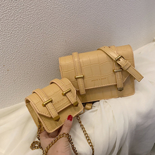 Fashion Crocodile Shoulder Bag Women Designer Chain Crossbody Bags Luxury Pu Leather Messenger Bags Ladies Small Flap Purse 2019 недорого