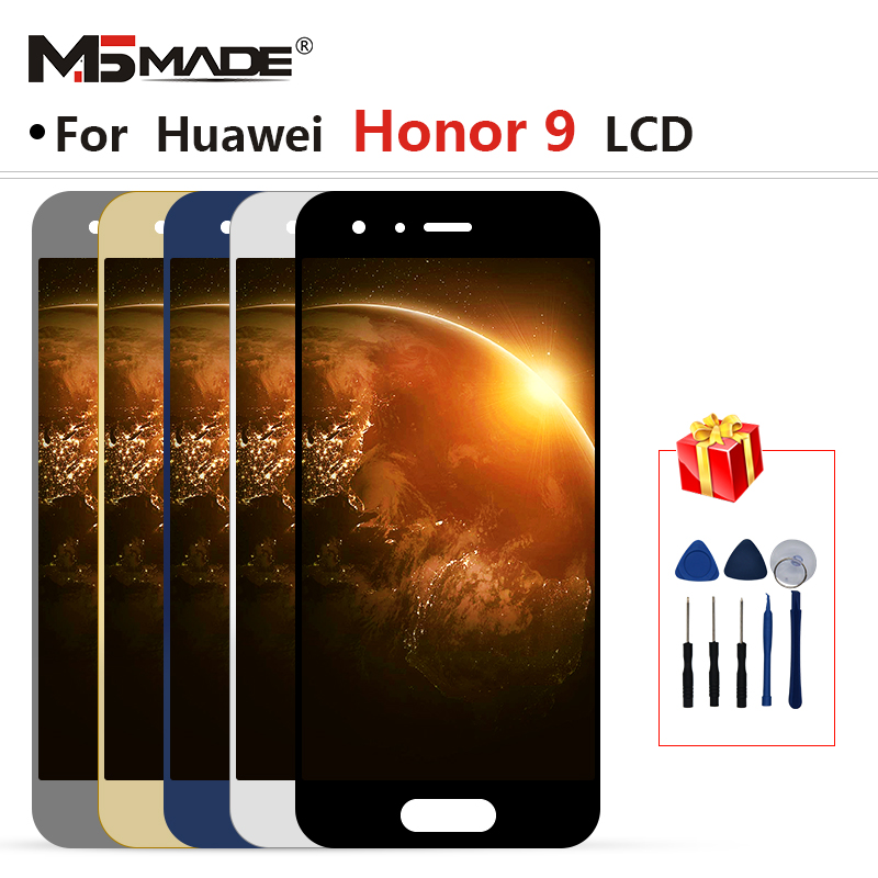 Original For Huawei Honor 9 STF-L09 STF-AL10 STF-AL00 LCD Screen Display Digitizer Replacement With Frame For Honor 9 Display