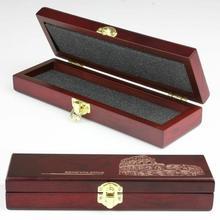 Купить с кэшбэком Retro High-Grade Wooden Box Case for Straight Razor CUT THROAT Knife GIFT New