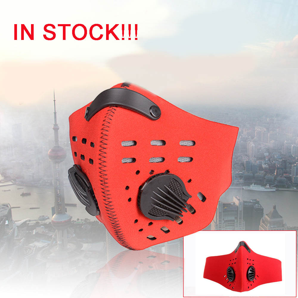 1pcs Mouth Face Mask Activated Carbon Protective Double Breathing Valve Masks Antibacterial Anti-Pollution Face Mask Respirator