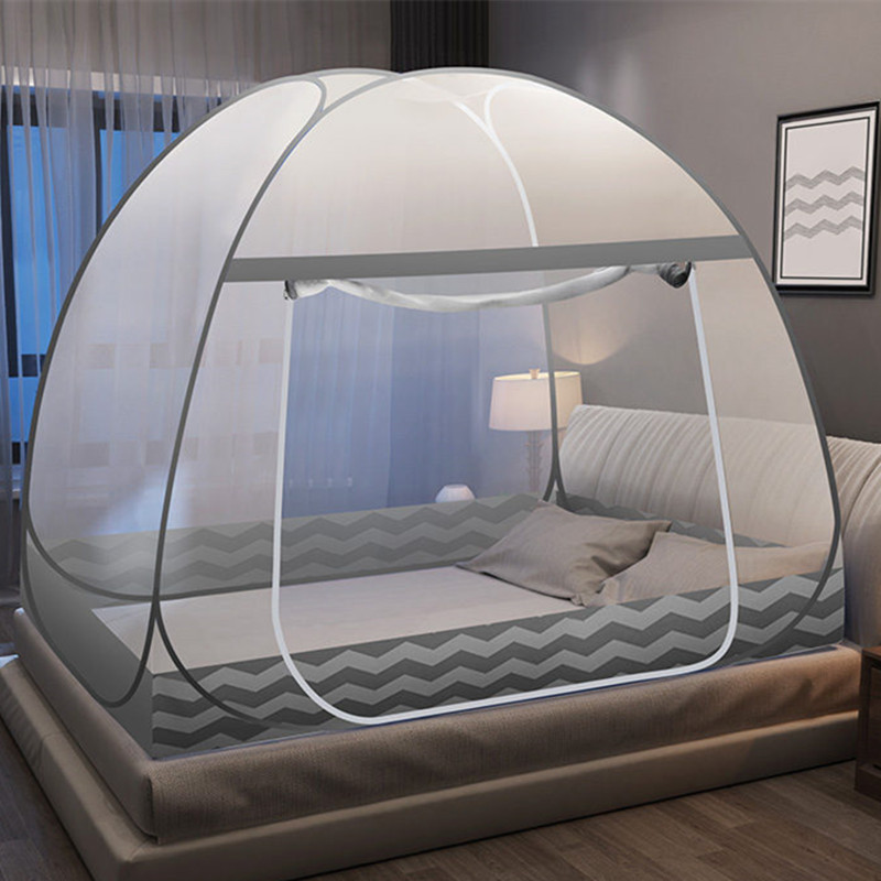 Wave Anti mosquito Cloth Household Mosquito Net Full Bottom Single Door Summer Bed Tent Portable Netting