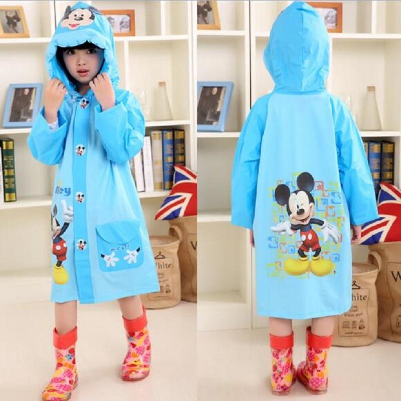 Freesmily Kids Cute Raincoat Waterproof Rain Poncho Jacket Coat for Girls Boys