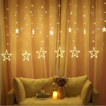 EID Mubarak Decoraion for Home 6 Big 6 Small LED Curtain Light String Garland Islamic Muslim wedding Party Al Adha Ramadan Decor