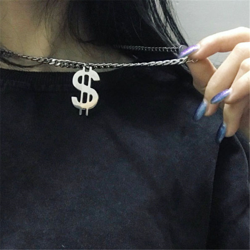SOHOT New Multilayer Punk Style Unisex Women Men Long Pendant Necklace Chic Gun Black Hip Hop Charm Jewelry Sweater Chain