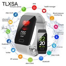 Мужской фитнес браслет с монитором кровяного давления, пульсометром, водонепроницаемым спортивным шагомером, умный Браслет Q1 для Android iOS