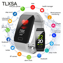 Männer Fitness Smart Band Blutdruck Herz Rate Monitor Armband Wasserdicht Sport Pedometer Smart Armband Q1 Für Android iOS
