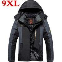 new Large Size Warm Outwear Winter Jacket Men waterproof Windproof Hood Men Jacket Warm Men Parkas plus Size 9XL 8XL 7XL