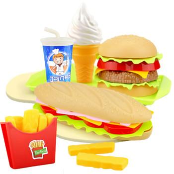 Dzieci imitacja jedzenia frytka ziemniaczana Hotdog zestaw zabawek kuchennych udawaj zagraj w miniaturową przekąskę HamBurger edukacyjne zabawki dla dziewczynki Kid tanie i dobre opinie 25-36m 4-6y 7-12y Z tworzywa sztucznego CN (pochodzenie) Montaż Don t Eat Dziewczyny Jedzenie Simulated Fast Food Kitchen Toys Set