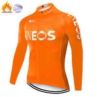 2020 ineos ciclismo jersey de manga larga de invierno de lana térmica maillot largo ciclismo MTB bicicleta jersey maillot ciclismo