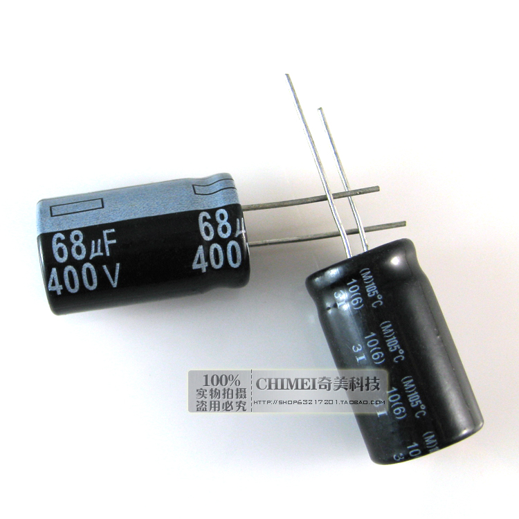 Free Delivery. Electrolytic capacitor 68 uf <font><b>400</b></font> v <font><b>16</b></font> * <font><b>16</b></font> x30mm capacitor size 30 mm image
