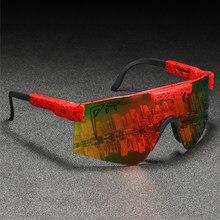 Pit viper polarizado óculos de sol de grandes dimensões homem lente de uma peça escudo gafas de sol semi-sem aro espelho uv400 ajustável