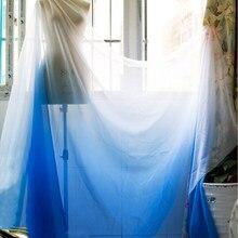 Tecido de chiffon tencel macio sheer dança vestido material azul branco gradiente chiffon pano tecido tecido tecido