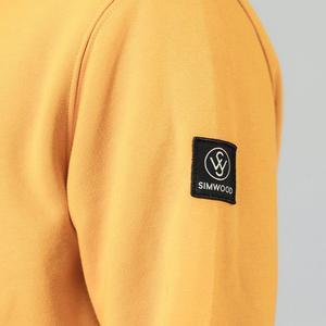 Image 5 - Мужская Флисовая Толстовка SIMWOOD, однотонная теплая Повседневная Уличная одежда с капюшоном, Толстая Толстовка размера плюс, SI980711