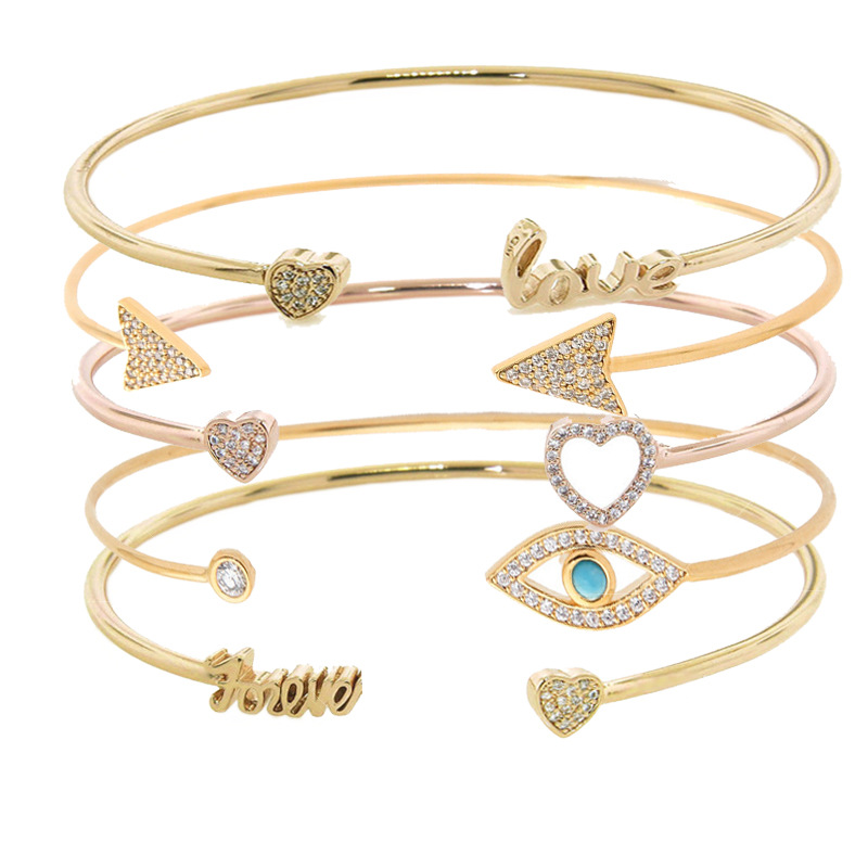 2020 New Fashion Adjustable Crystal Double Heart Bowknot Chain & Link Bracelets Women Jewelry Gift Wholesale