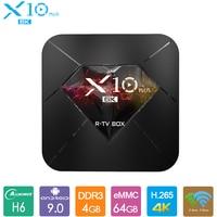 R TV BOX X10 Plus Android 9.0 Smart TV Box Allwinner H6 4GB DDR3 32GB 64GB 2.4GHz WiFi Set Top Box USB 3.0 6K H.265 Media Player
