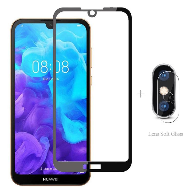 Full Cover <font><b>Tempered</b></font> <font><b>Glass</b></font> + Camera Protector For <font><b>Huawei</b></font> Y6 Pro 2019 Y5 Lite <font><b>2018</b></font> Y7 Y9 <font><b>Prime</b></font> <font><b>Y</b></font> 5 <font><b>6</b></font> 7 9 Y7Pro Protective Film image