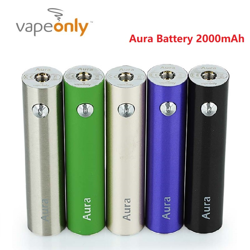 Clearance Original VapeOnly Aura Battery 2000mAh E-cig Mod For 510 Thread Tank Long Last Time Vaping E-cigarette Vape Battery