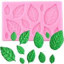Leaf Molds Fondant-Mould Decorationg-Tool Polymer-Clay Gumpaste Rose Flower-Making Sugarcraft-Leaves