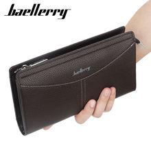 Женский однотонный деловой Длинный кошелек бумажник на молнии