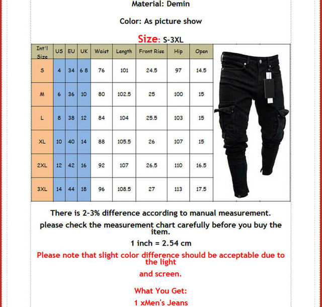 Long Pencil Pants Ripped Jeans Slim 3