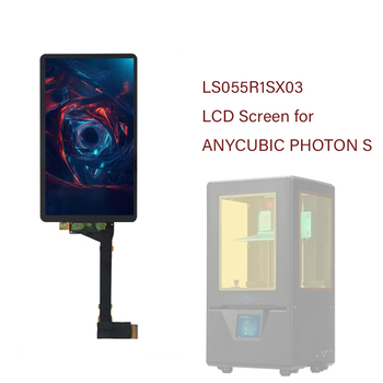 Appty To ANYCUBIC Photon S 3D Printer 2K LCD Screen With Glass 5.5 inch LS055R1SX03 2K Light Curing Display Screen No Backlight 1