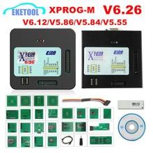 XPROG V6.26 V6.12 V6.17 V5.86 V5.55 USB دونجل مع محولات كاملة XPROG M أفضل من XPROG V5.60/V5.55/V5.0 X prog صندوق معدني