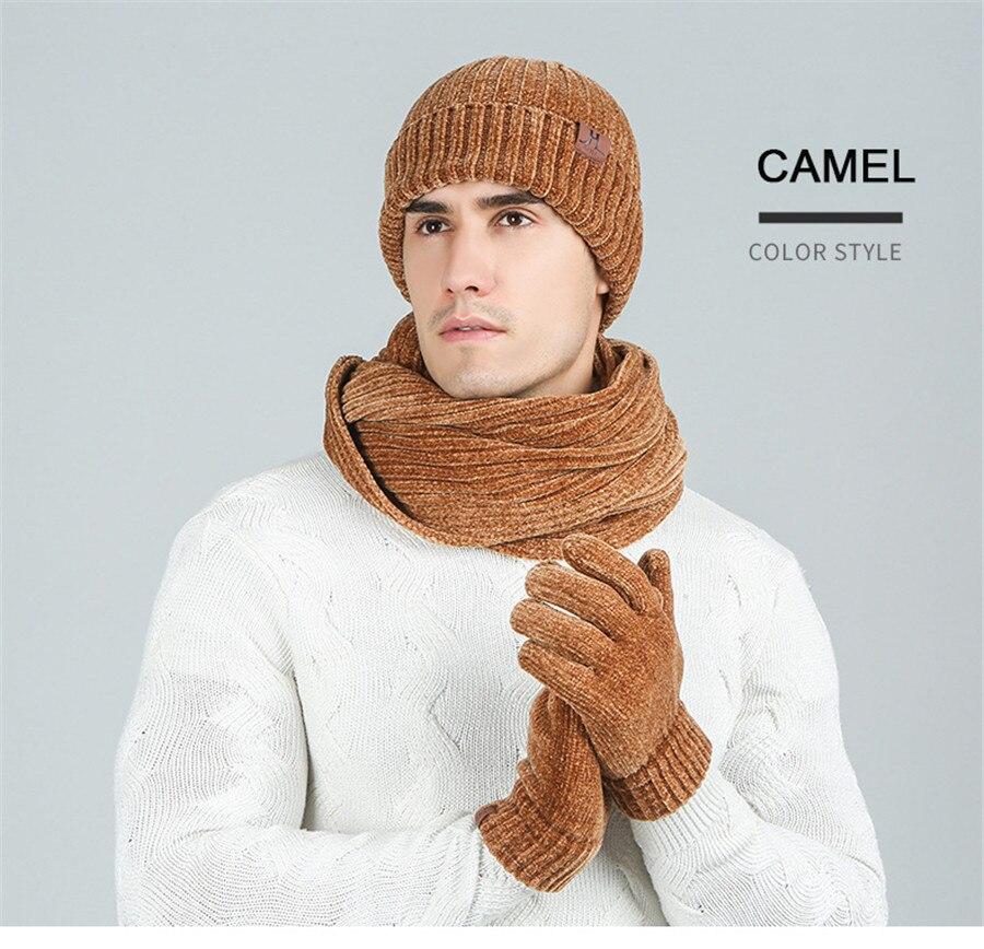 chapeau écharpe gants ensemble pour femmes hommes
