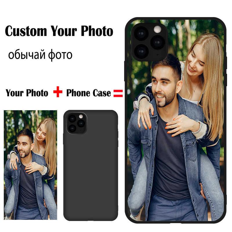 Personalizado/16mm/20mm/25mm/30mm/40mm foto para Samsung J2 J3 J4 J5 J6 2016 de 2017 Más de 2018 primer J415 J510 J530 J730 M10 20 TUP Tapa blanda de color negro