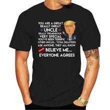 2021 moda lazer 100% algodão o-pescoço camiseta ue amo donald trump acredite em mim todos concordam