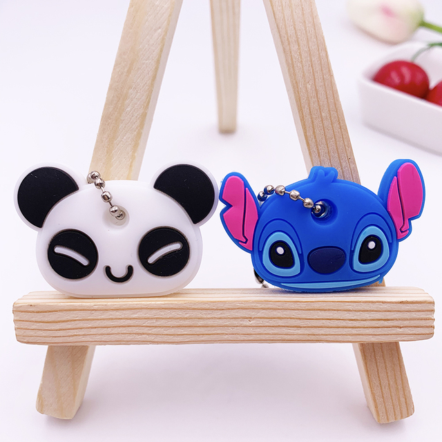 2Pcs/set Cute Cartoon Silicone Protective key Case Cover For key Control Dust Cover Holder Organizer Home Accessories Supplies 3