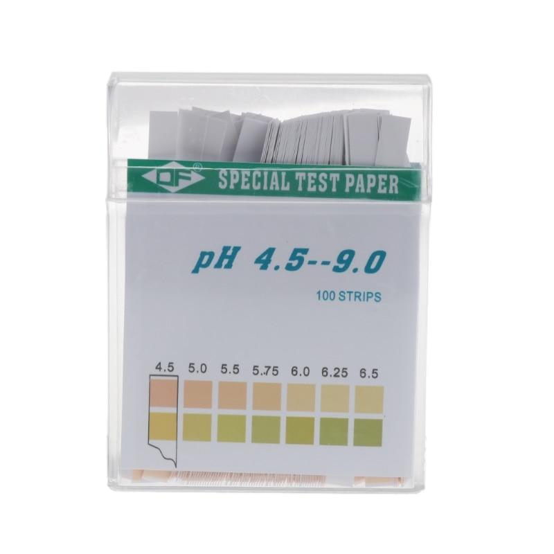 100 Strip 4.5-9 PH Alkaline Acid Indicator Paper Water Saliva Litmus Testing Kit L69A