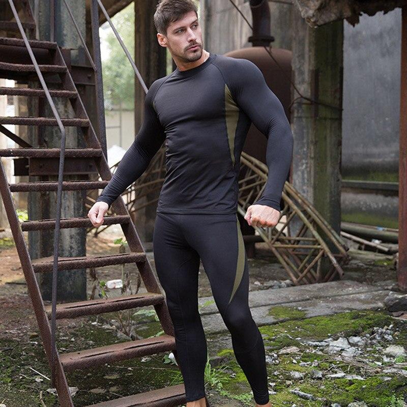 Fleece Thermal Underwear Winter Heat Long Johns Winter Thermal Underwear Ski Underwear Base Layer Cycling Compressed Sportswear