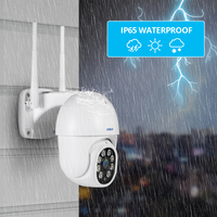 Entrega local KERUI-cámara IP impermeable para exteriores, inalámbrica, 1080P, 2MP, 4X, PTZ, WiFi, domo de velocidad, CCTV, vigilancia con adaptador de corriente de 3 metros