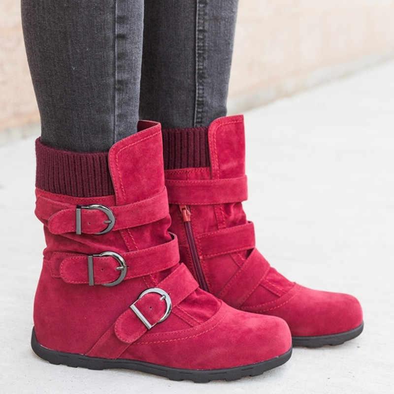 ผู้หญิงรองเท้าแบนด้านล่างขนาดใหญ่ขนาดสั้นหนาผ้าฝ้ายแบนด้านล่างยี่ห้อรองเท้าผู้หญิง 2019 ใหม่