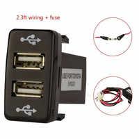 Voiture Double USB 2 Ports Chargeur de Téléphone pour Toyota 4runner/Prado 120 Série 2003-2009 Chargeur de voiture Étanche Double Port Adaptateur Automatique