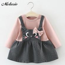 Melario / платье для малышей; осеннее платье для маленьких девочек; платье принцессы с длинными рукавами; детская одежда ; Платье с принтом кота; зимняя одежда для маленьких девочек