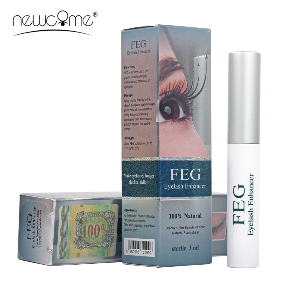 NEWCOME FEG Eyelash Enhancer Eye Lashes Eyebrown Liquid Treatment Natural Eyelash Growth Serum Makeup Tools