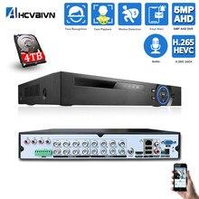 16 kanal AHD DVR Hybrid 6 in 1 CCTV Video Recorder für 5MP 1080P TVI CVI CVBS DVR IP sicherheit Kamera für überwachung System