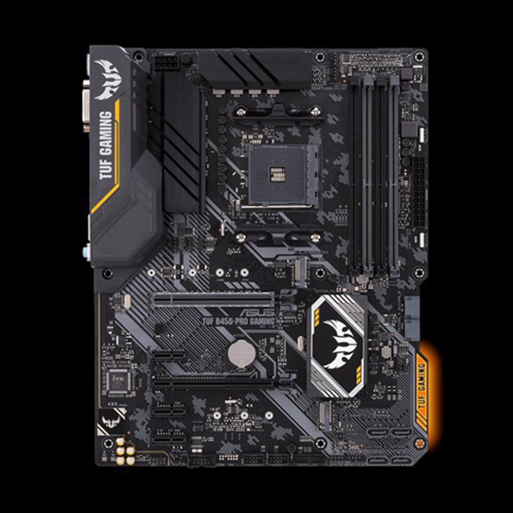 ASUS motherboard TUF b450m-pro GAMING mATX with RGB LED lighting ,support up to DDR4 3533MHz dual M.2 native USB 3.1 brand new 1