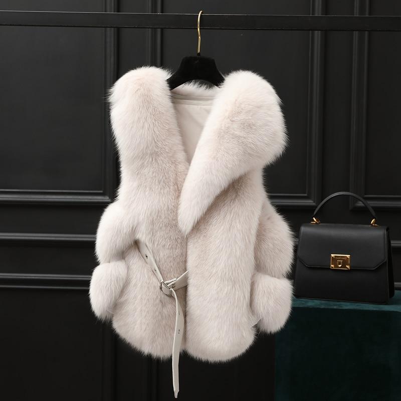 New  Winter Coat Women Fashion Import Overcoat Whole Reel Fox Fur Vest High-Grade Fur Coat Women Coat Lowest Price