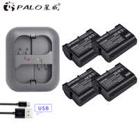 PALO 4Pcs EN EL15 ENEL15 EN-EL15 Battery + LED Charger for Nikon D500,D600,D610,D750,D7000,D7100,D7200,D800,D800E,D810,D810A v1