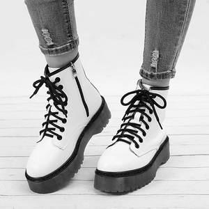 Platform-Shoes Snow-Boots Low-Heels Ankle Female Botas Women Fashion Short Motorcycle