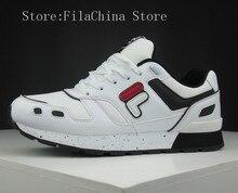 FILA Shoes Mens 2019  FLASH retro leisure jogging shoes F12W811110WTF Size 40-44 Fila Men Sneaker комплект fila fila fi030emifiu4