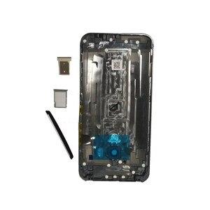 Image 5 - Оригинальный чехол для HTC One M9, чехол с аккумулятором, задняя крышка, задняя крышка, металлическая задняя крышка, верхняя крышка, лоток для sim карт, лоток для SD TF, Боковая кнопка