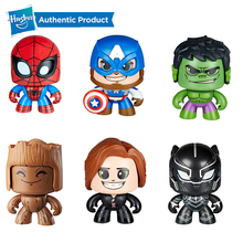 Hasbro Marvel The Avengers Mighty Muggs Captain America Spiderman Hulk Groot 3 Facial Expressions Collectible Figure Toy Gift
