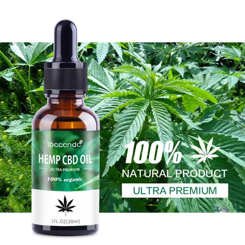 15/30ml 100% Natural Organic Hemp Seed Oil, Sleep Aid Anti Stress Hemp Extract Drops For Pain, Anxiety & Stress Relief Skin Care