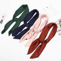 New 70x70cm Black Red Pink Green Solid Color Small Square Silk Satin Neck Scarf Collar Women Purse Bag Head Scarfs for Ladies