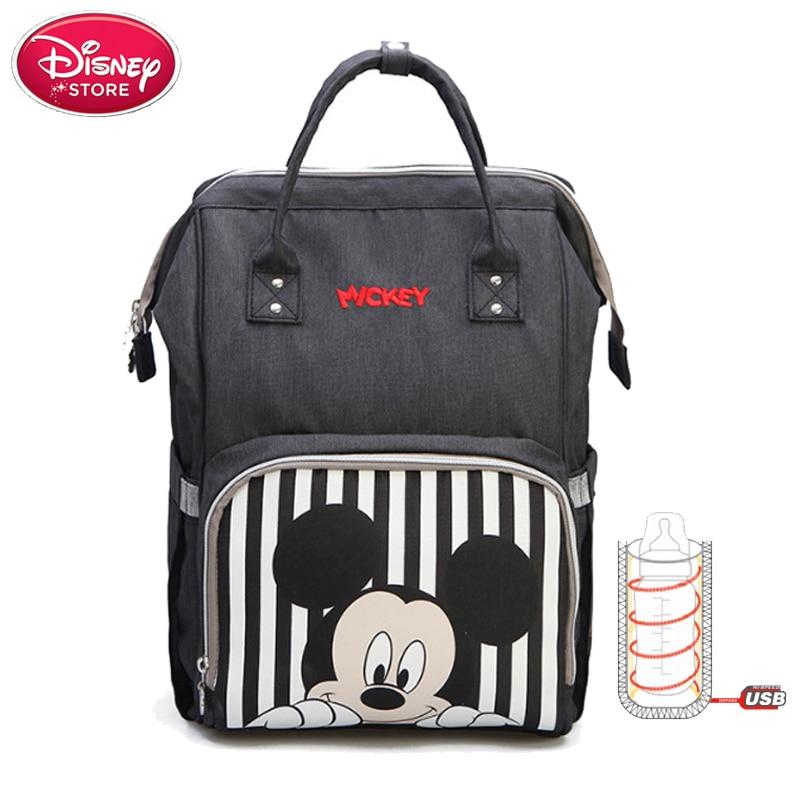 Sac à couches Disney pour maman Mickey Mouse   Sac à dos, sacoche de maternité, sacs de voyage bébé pour maman, isolation USB alimentation de biberon