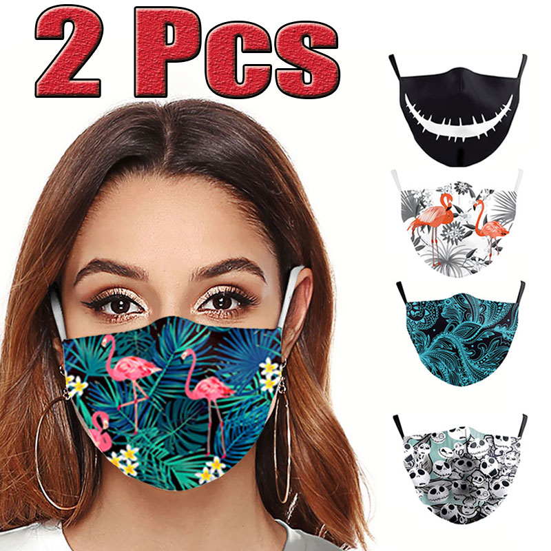 2Pcs New Anti-Infection Virus Face Mouth Masks Cover Reusable Protection Dust Breath Unisex Washable Masks Proof Bacteria Mask
