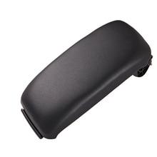 1 Pcs Leather Car Armrest Latch Cover Center Console Armrest Cover Car Black Storage Box  Lid Cover for Audi A3 8P/A5 2003 2013